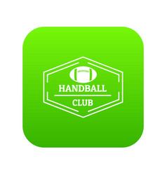 handball icon green vector image