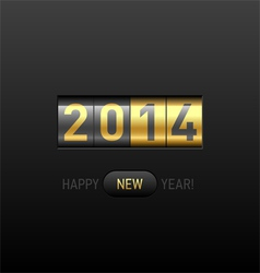 Happy New Year 2014 card vector