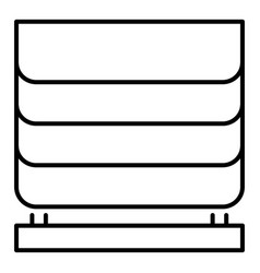 home blind window icon outline style vector image