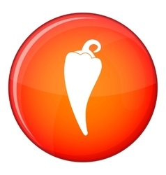 Hot chili pepper icon flat style vector image