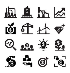 Investment icon set vector