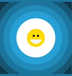isolated laugh flat icon grin element can vector image