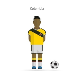 National football player Colombia soccer team vector