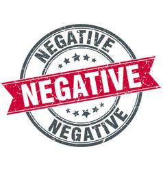 Negative round grunge ribbon stamp vector
