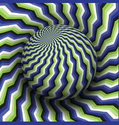 Optical illusion hypnotic blue vector
