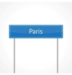 Paris traffic sign vector image