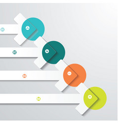 pointer arrows graphic or website layout vector image