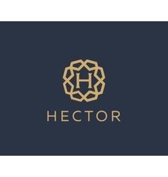 Premium letter h logo icon design luxury vector