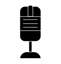 Rec microphone icon black vector