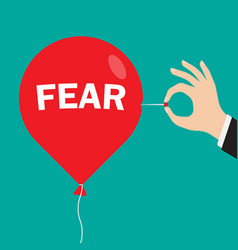 Red balloon with an inscription fear vector