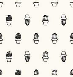 seamless geometric pattern with simply hand vector image