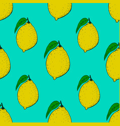 seamless pattern with lemons design element for vector image