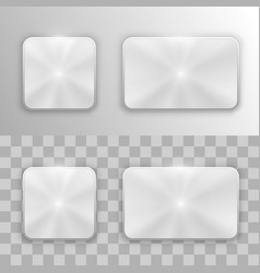 set metal buttons vector image