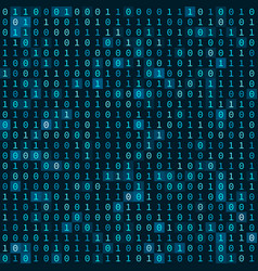 Simple blue binary computer code seamless pattern vector