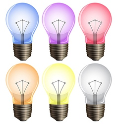 Six light bulbs vector