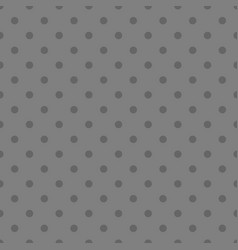 tile pattern with grey polka dots on background vector image