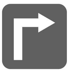 Turn Right Flat Squared Icon vector