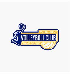 Volleyball club badge logo-10 vector