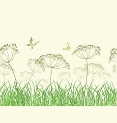 Wildflowers in the grass vector