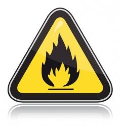 yellow triangular warning sign vector image