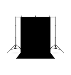 Black photo background isolated on white vector image vector image