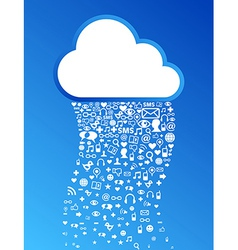 Cloud computing icon background vector image