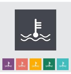 icon of motor temperature vector image vector image