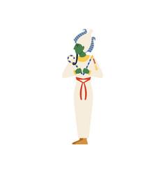 Osiris the god of the underworld egyptian vector