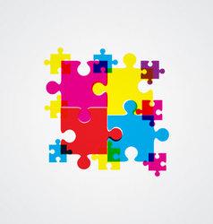 puzzle concept design vector image vector image