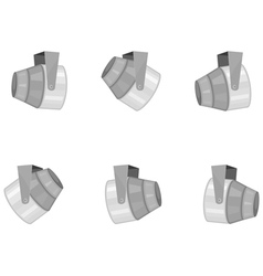 set of spotlights vector image