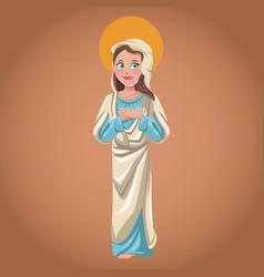 virgin mary spiritual sac image vector image