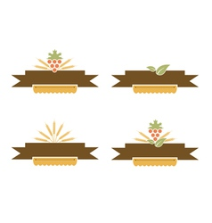 Bakery and Harvest Banner Set vector image