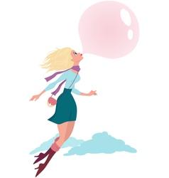 Bubble gum vector image vector image