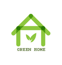 green home eco concept icon vector image