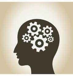 Head gear wheel vector image