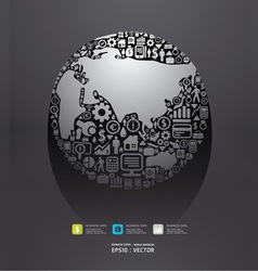 icons Finance make in world shape concept vector image vector image