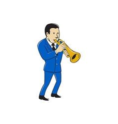 Musician Playing Trumpet Cartoon vector image vector image
