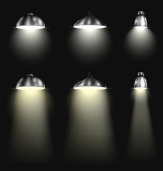 Three Types of Spotlights With Beams vector image vector image