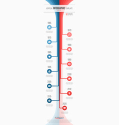 vertical timeline web infographic template 12 vector image
