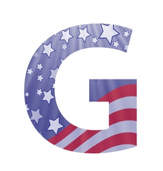 american letter G vector image
