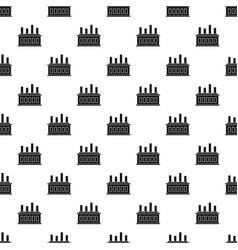 industrial factory building pattern vector image vector image