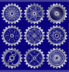 the steampunk gears vector image