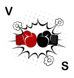 boxing sport training icon boxing gloves fight vector image
