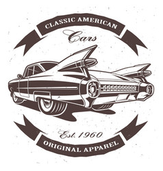 classic american car vector image