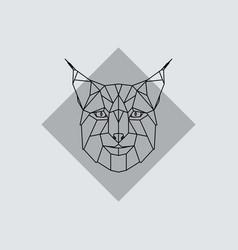 geometric head lynx vector image vector image