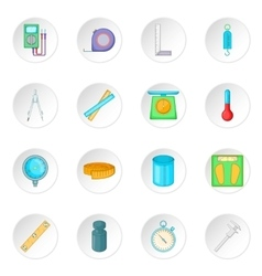 Measure tools icons set vector image vector image