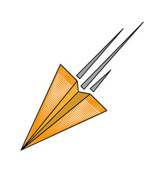 paper plane isolated vector image