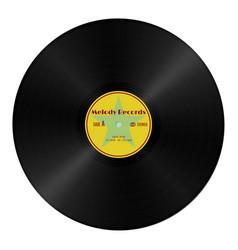 realistic gramophone vinyl record in retro style vector image vector image