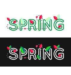 Spring decorative concept Spring text Spring vector image vector image