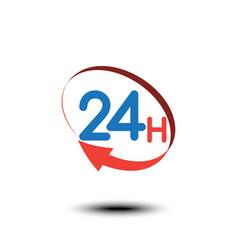 24 hours logo icon or signboard for your business vector image